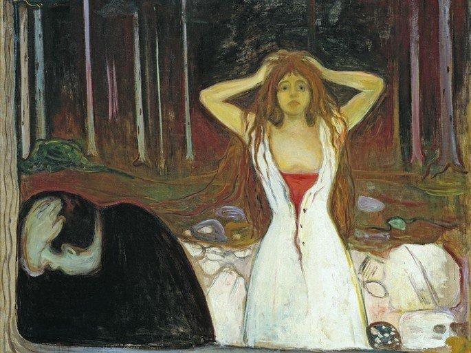 Edvard Munch: Cenizas, 1894, óleo sobre lienzo,