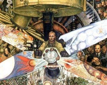 Mural El hombre controlador del universo de Diego Rivera