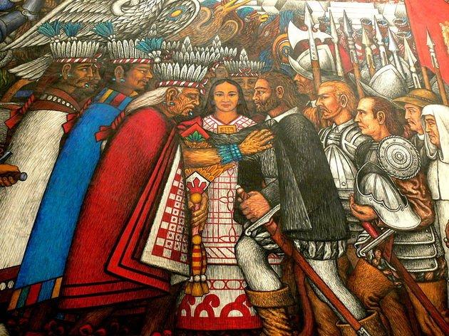 Negociaciones con los españoles Tlaxcala