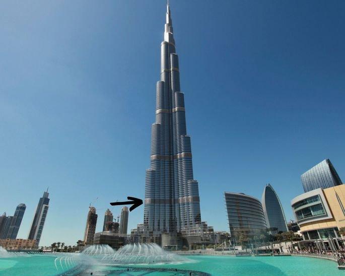 Imagen de los pisos mecánicos del Burj Khalifa