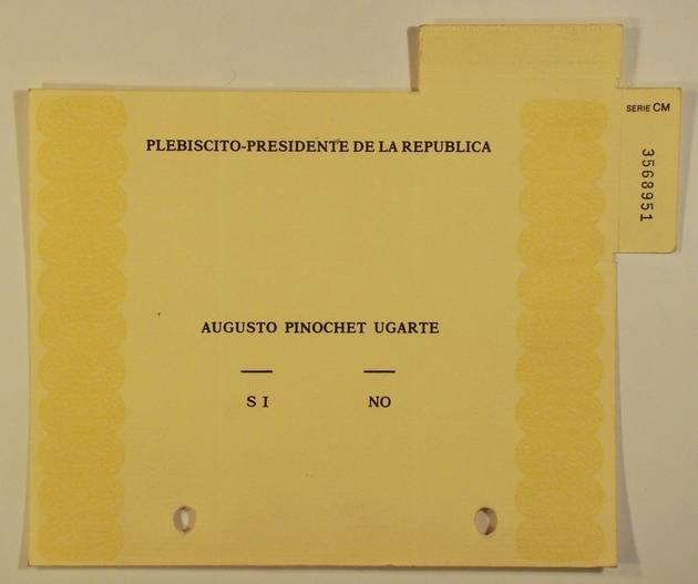 papeleta del plebiscito