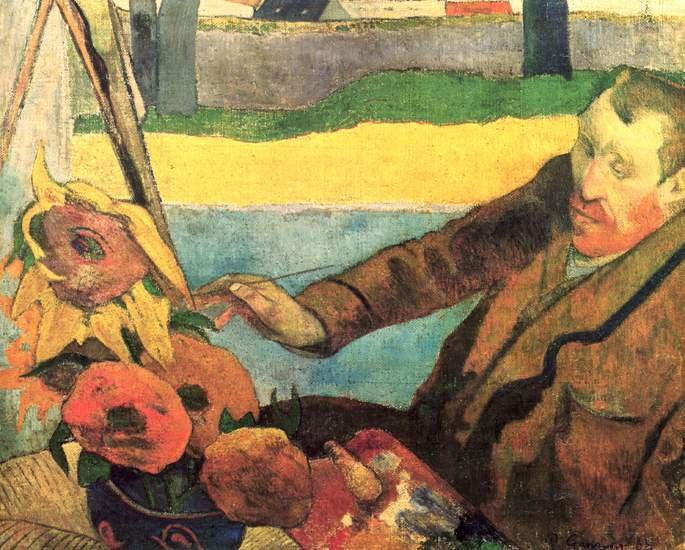 Van Gogh pintando los girasoles