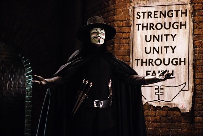 Personaje de V en la película V de Vendetta