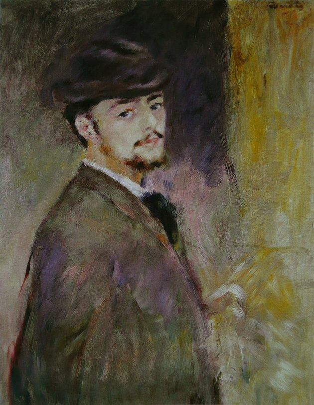 Pierre Auguste Renoir. Autorretrato. 1876.