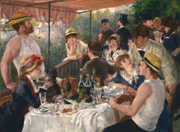Renoir Almuerzo en la fiesta del bote