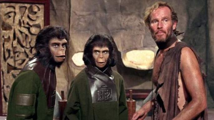 Fotograma de la película El planeta de los simios
