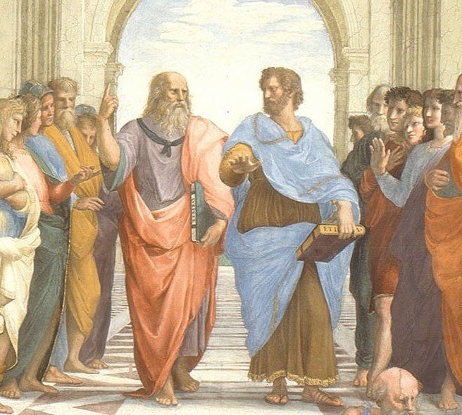 Platón y Aristóteles en la Academia