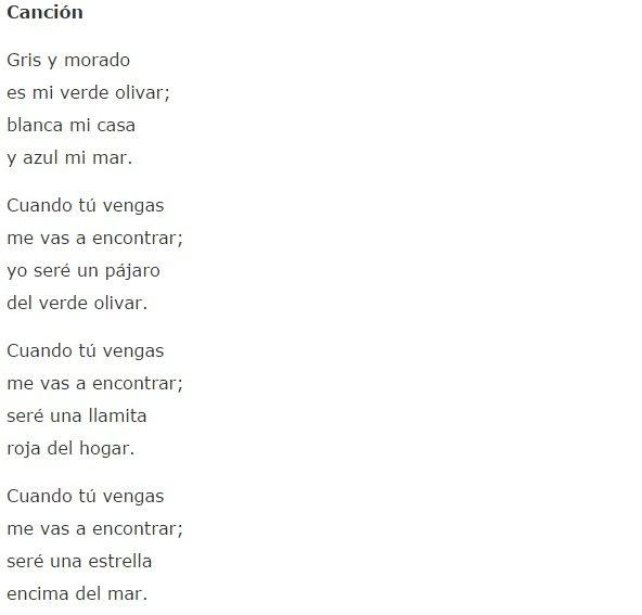 Poema Canción José Moreno Villa