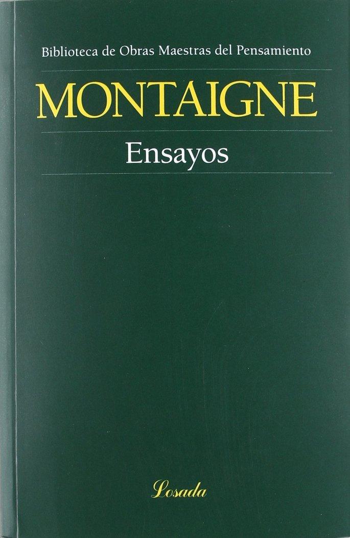 Portada del libro Ensayos de Montaigne