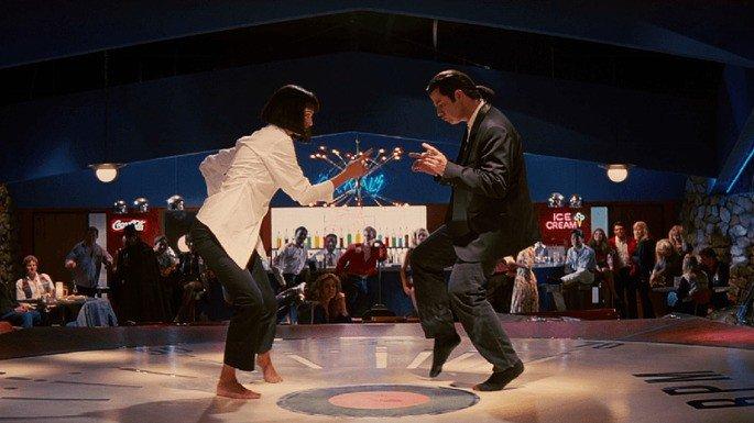 Escena de Pulp Fiction en la que aparece Mía y Vincent bailando