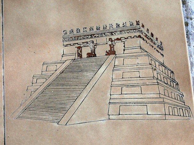 Reconstrucción del Templo de las Grandes Mesas.