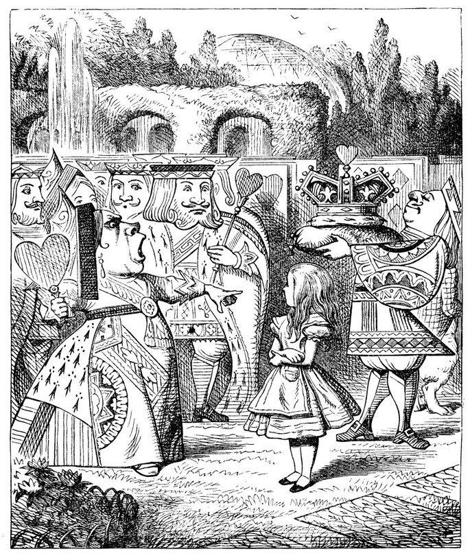 Ilustración de La reina de corazones