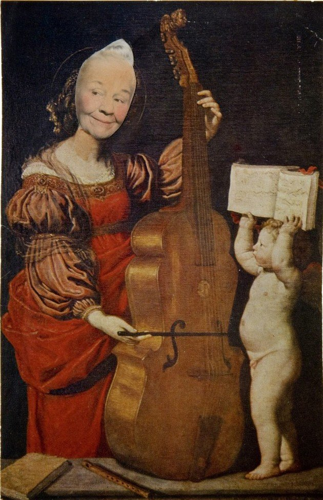 Ridiculous Portrait Cello, Cherub may wilson 1972