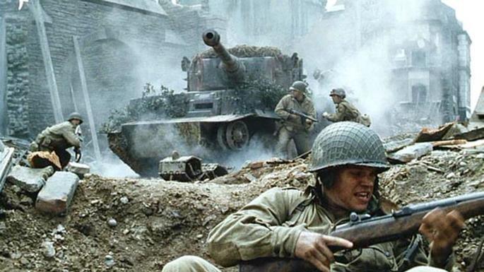 Fotograma de la película Salvar al soldado Ryan.