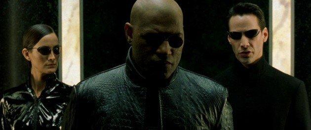 Trinity, Morfeo y Neo en Matrix.