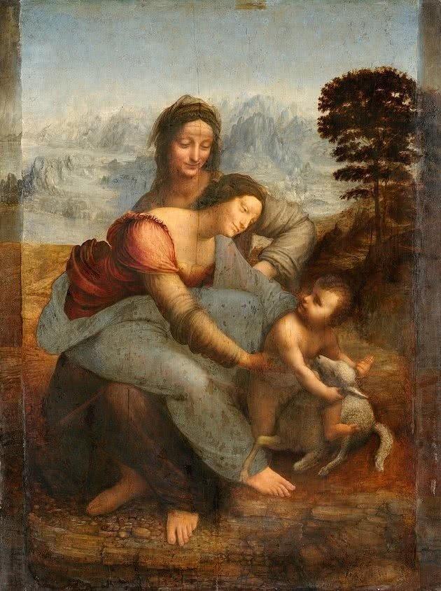 virgen y el niño con santa ana