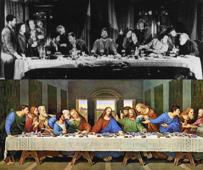 Escena de 'la última cena'