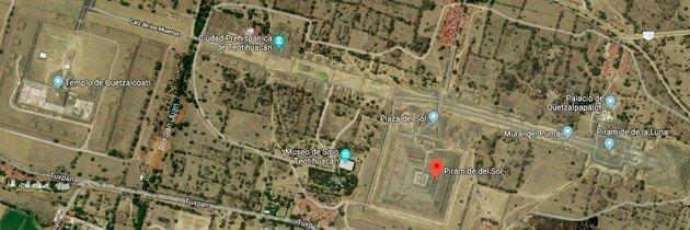 vista aérea teotihuacán