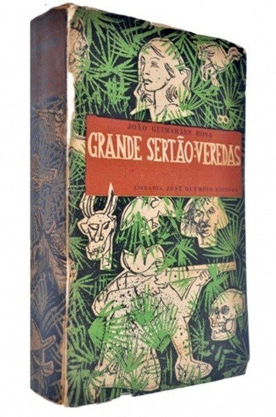 Capa da primeira edição de Grande sertão: Veredas