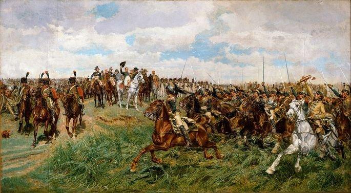 tela a batalha de Ernest Meissonier