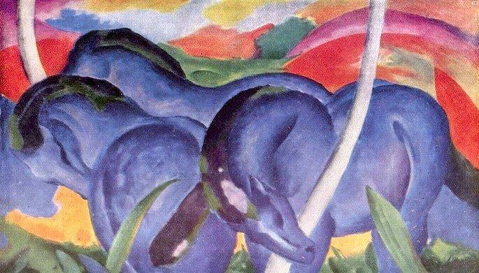 Blue horses, de Franz Marc