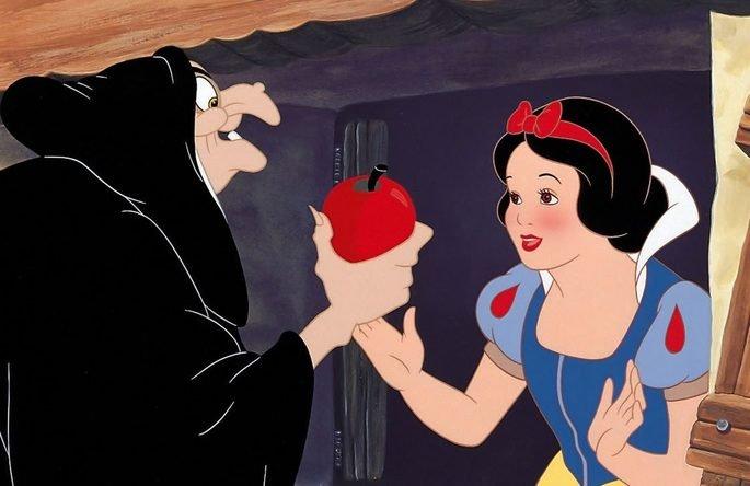 branca de neve maçã