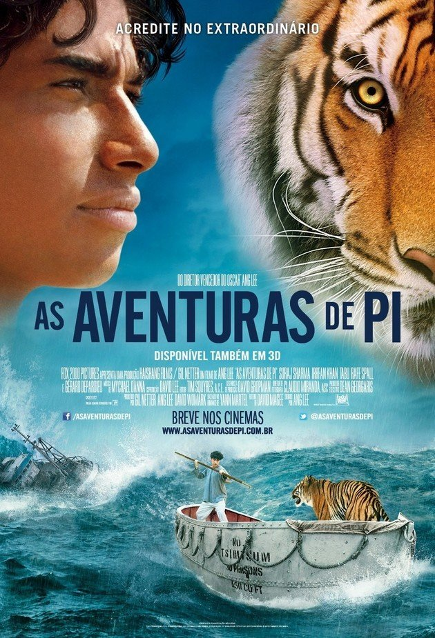 Cartaz do filme As aventuras de Pi.