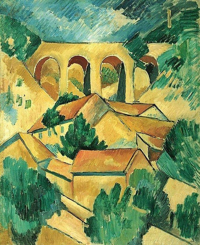 O viaduto de estaque (1908), de Georges Braque