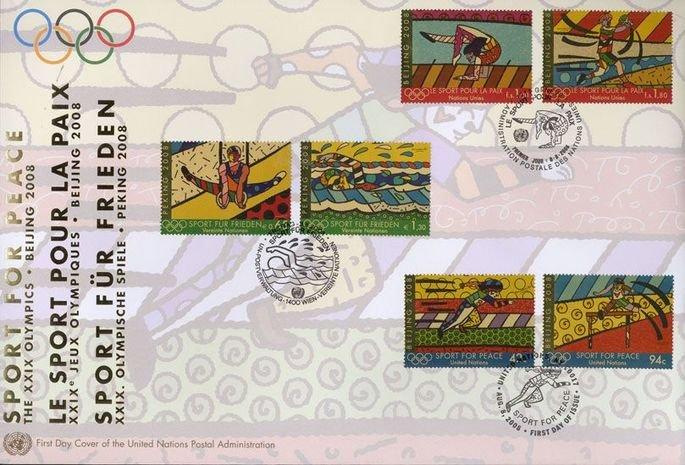 selos postais Esportes para a paz