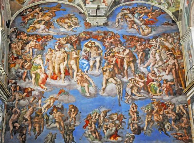 Juízo Final - 13,7 m x 12,2 m - Capela Sistina, Vaticano
