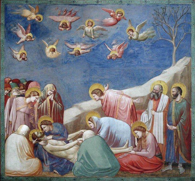 Quadro A Lamentação de Cristo, de Giotto