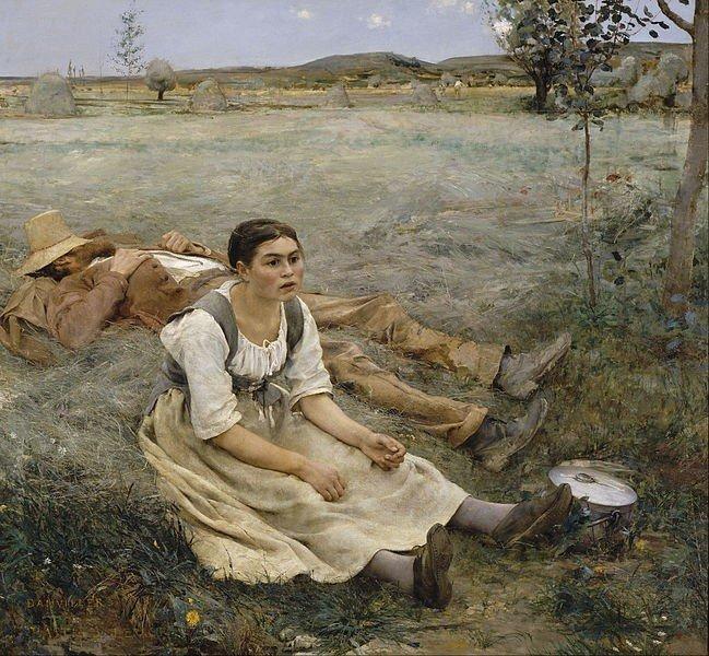 Quadro Hay Making, de Jules Bastien Lepage.