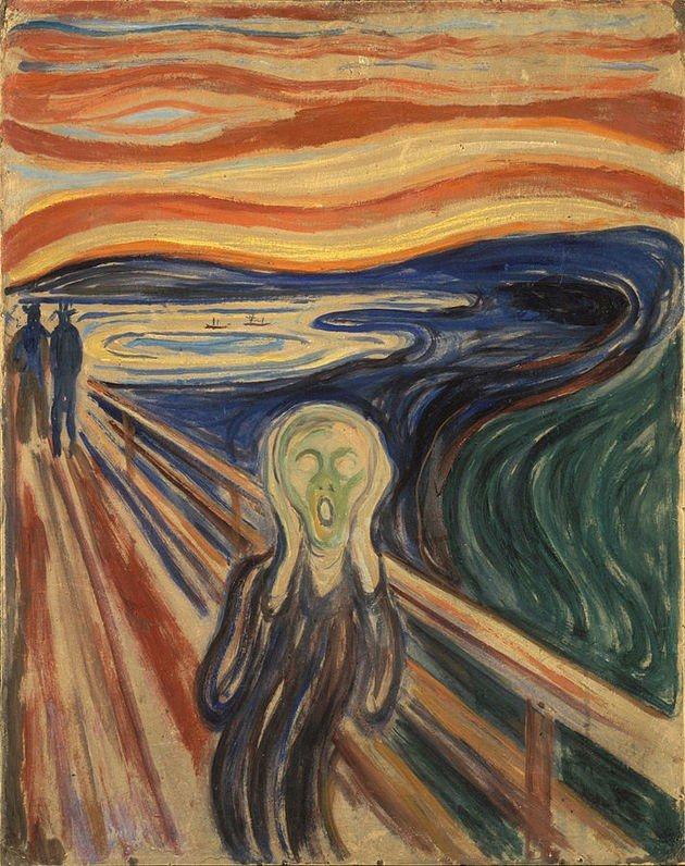 a0456c49ccf A primeira versão da obra-prima de Munch foi pintada no ano de 1893 e  atualmente pertence ao acervo da Galeria Nacional de Oslo.