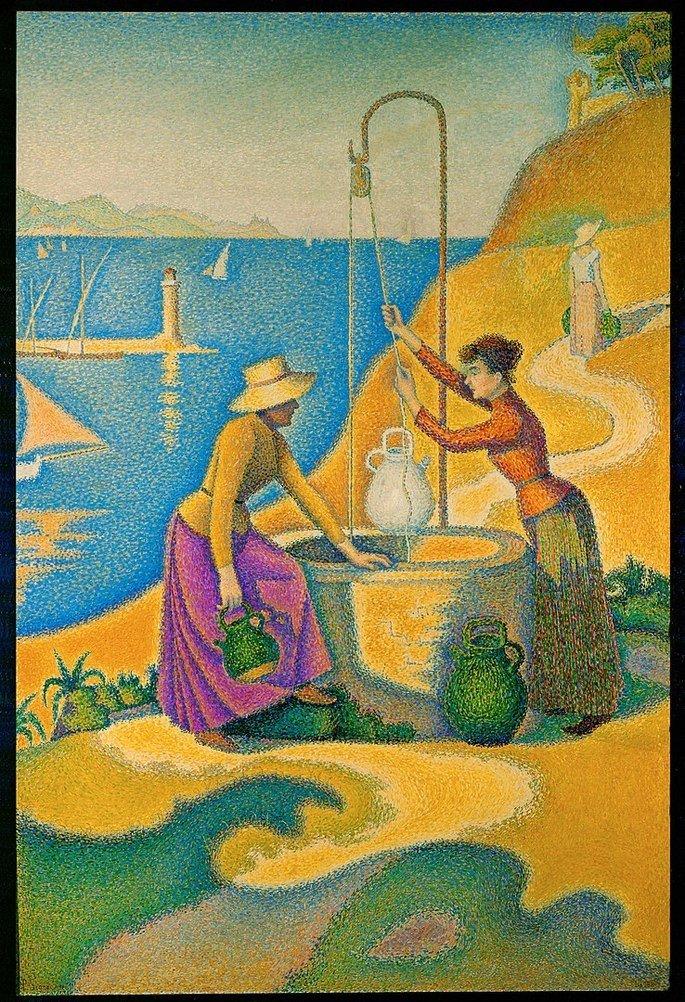 Jovens provençais no poço (1892), Paul Signac
