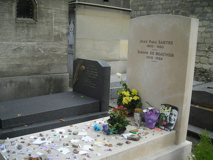 Túmulo de Beauvoir e Sartre.