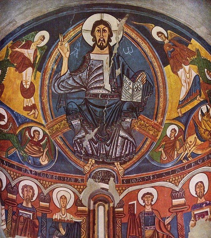 Pintura romanica presente na Igreja de Sant Climent de Taüll
