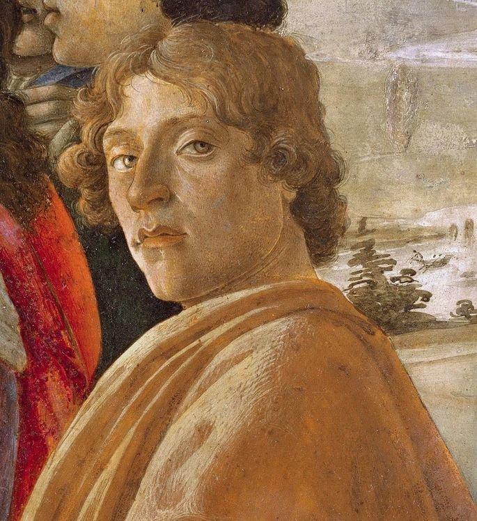 Autorretrato de Sandro Botticelli.