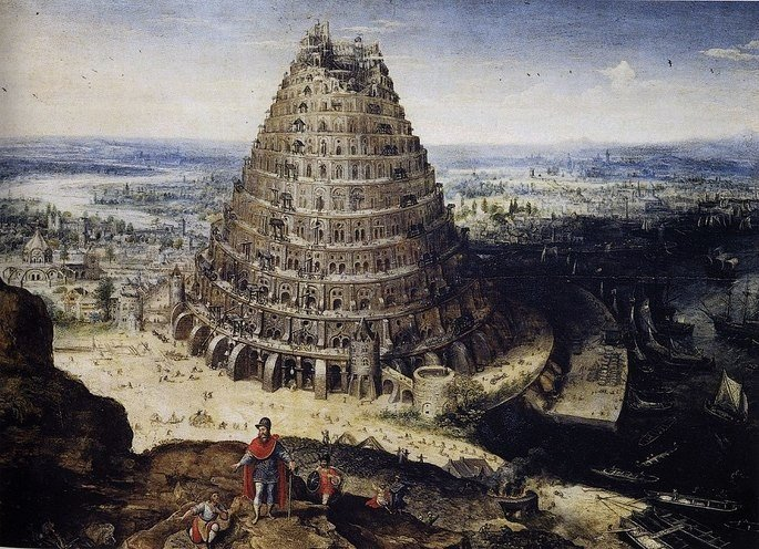 Tower of Babel Lucas van Valckenborch 1594
