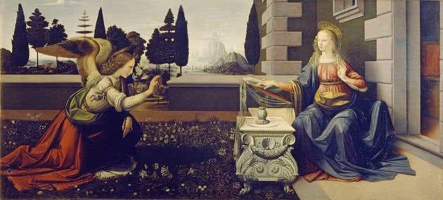 A Anunciação - 0,98 m × 2,17 m - Uffizi