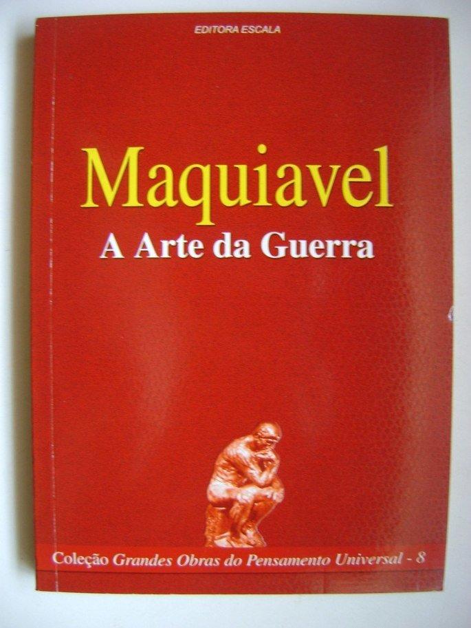 Capa do livro A Arte da Guerra, de Maquiavel.