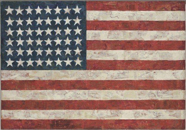 A Bandeira norte-americana (1955), de Jasper Johns