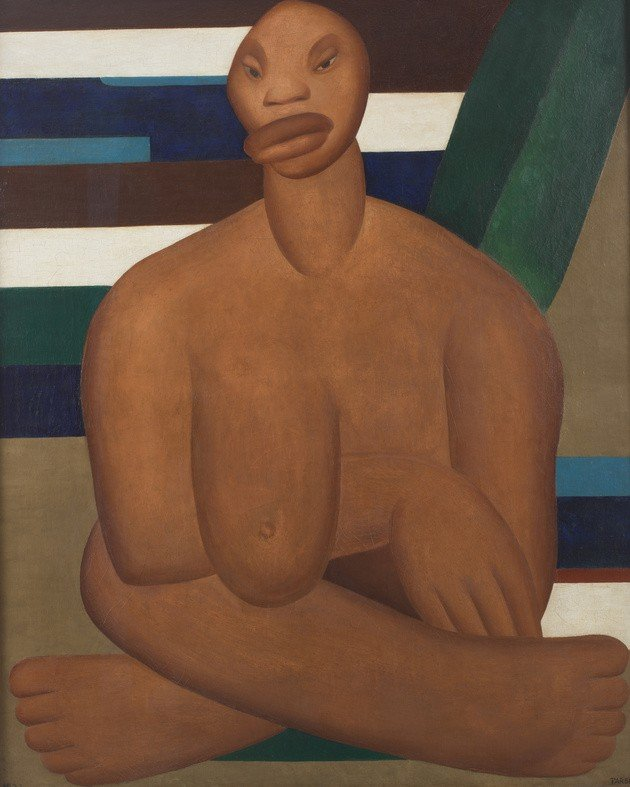 O quadro A negra, pintado anos antes de Abaporu, já trazia traços de gigantismo que viriam a ser intensificados posteriormente.