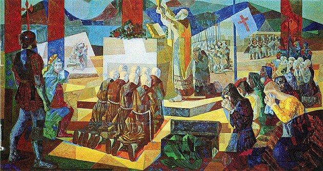 A primeira missa no Brasil de Candido Portinari