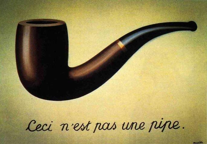 A traição das imagens, tela de Magritte