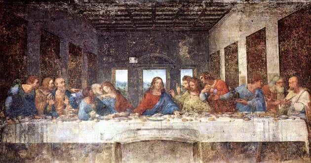 A Última Ceia - 4,6 m x 8,8 m - refeitório do Convento de Santa Maria Delle Grazie, Milão