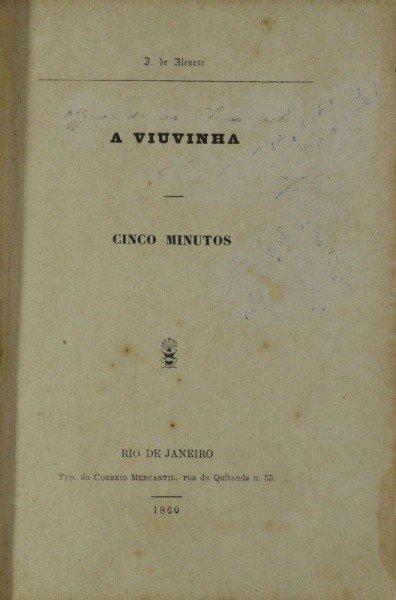 Capa da primeira edição de A viuvinha.