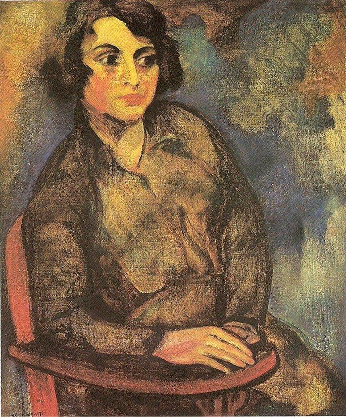 Quadro A estudante russa, de Anita Malfatti.