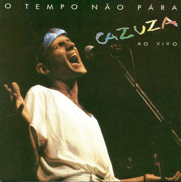 Capa do álbum O Tempo Não Para de Cazuza, 1988.