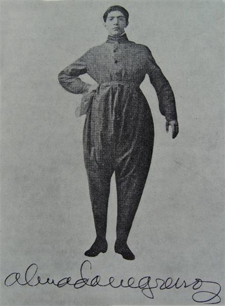 Retrato de Amalda Negreiros em 1917.