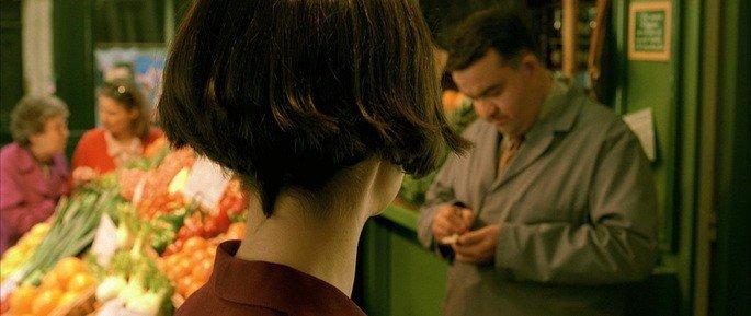 Amélie vendo as grosserias de Collignon